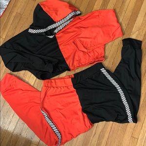 Fashion Nova Pants & cropped hoodie set